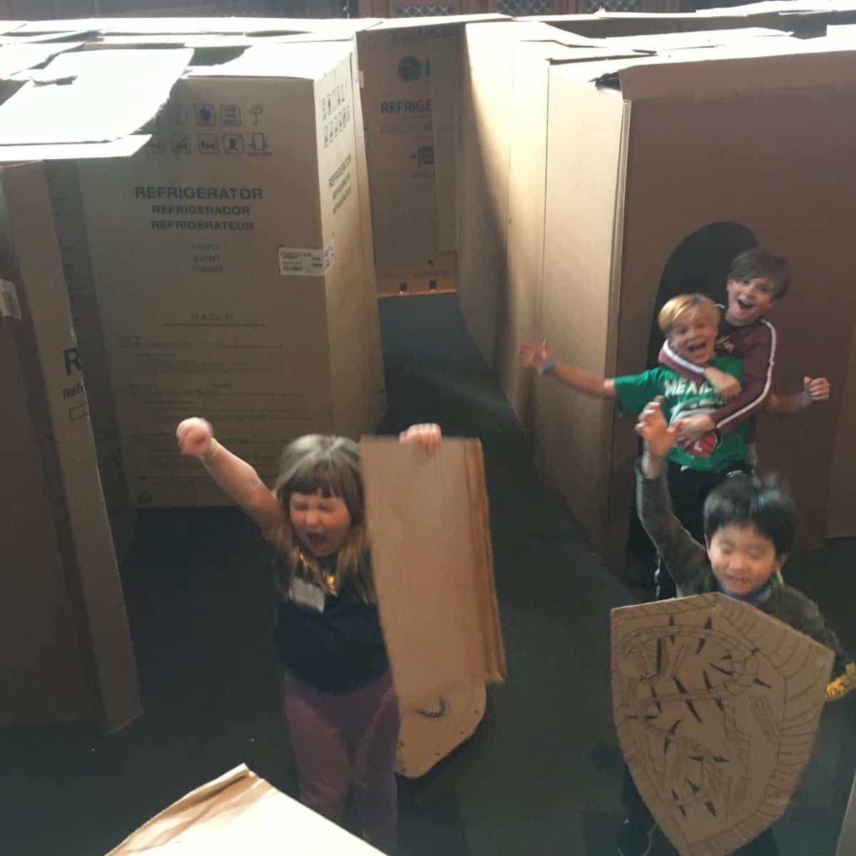 Kids and Cardboard 2138